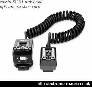Nissin SC-01 universal off camera shoe cord