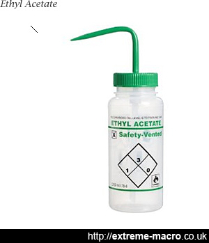 Ethyl acetate, used to kill insects